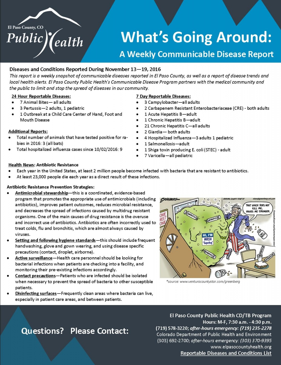 What 39 S Going Around A Weekly Communicable Disease Report El Paso County Public Health